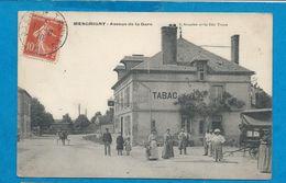 MESGRIGNY    Avenue De La Gare    TABAC        Animées   écrite En 1910 - France