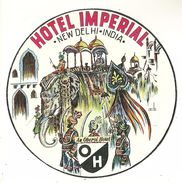 NEW DELHI  ETIQUETTE HOTEL IMPERIAL PUBLICITE CHROMOGRAPHIE ILLUSTRATEUR INDE INDIA HOTEL ELEPHANT - Old Paper