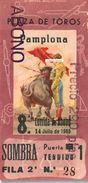 Billet De Corrida Du 14/06/1965 PLAZA DE TOROS De PAMPLONA - Tickets D'entrée