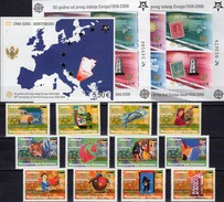CEPT Mocambique 2853/64,CRNA GORA Bl.2A/B+3 ** 155€ Hojas Blocs Art S/s Map M/s Sheets Bf 50 Years EUROPA 1956-2006 - Mosambik