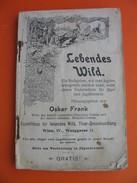 Oskar Frank:Lebendes Wild (Jagd,Jager) - Books, Magazines, Comics