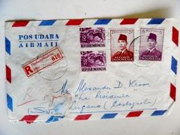 Cover From Indonesia To Switzerland 1960 Registered Djakartathamrin Animal - Indonésie