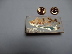 Superbe Big Pin's En EGF , Aviron , Hawaiian Shirts By D. C. - Rowing