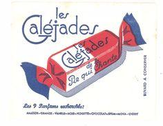 Buvard Bonbons Les Galéjades De La Pie Qui Chante - Buvards, Protège-cahiers Illustrés