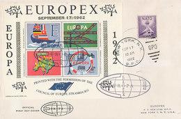 DC-0762 - EUROPA CEPT 1962 EUROPEX - LARGE COVER - Europa-CEPT