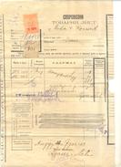 JUDAIKA WAYBILL ADANJA & LEVI YEAR 1913 (2 PAGES) - Cartes