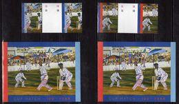 Bermuda 2002 The 100th Anniversary Of Bermuda Cup Cricket Match. Stamps 1A,1B & 2 S/S.MNH - Bermudes