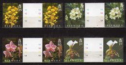 Bermuda 2004 The 50th Anniversary Of The Orchid Society. Stamps 1C,1D, 1A,1B .MNH - Bermudes