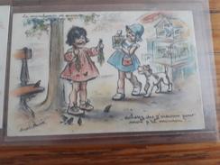 Carte Postale La Marchande De Mouron Germaine Bouret - Niños