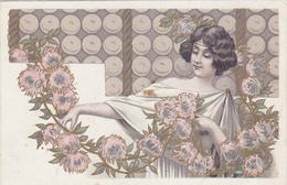 Lot De 2 Cpa -illustrateur -femme Frau Wife -Publicité Chocolat Buard Chemin De La Scaronne A Lyon - Künstlerkarten
