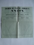 CHEMIN DE FER DE SOMAIN À ANZIN ET LA FRONTIÈRE BELGE. SOMAIN À PERUWELZ / PERUWELZ À SOMAIN - FRANCE, 1959. - Spoorweg
