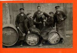 Commerce - Carte Photo - Brasserie - Vin - Décembre 1908 (non écrite Au Dos) - Commerce
