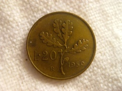 20 Lire 1959 - 1946-… : Republic