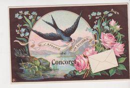 26349 Trois Cpa  Concoret - Une Pensee (ed Baudin), Apporte Souvenir (ed JTB),  Amities (ed Sorel Berongeau) Hirondelle - France