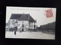 CPA D21 Saulieu, Ecole De Garçons - Saulieu