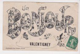 26351 Un Bonjour De Valentigney  -ed Testart Epinal - - Valentigney