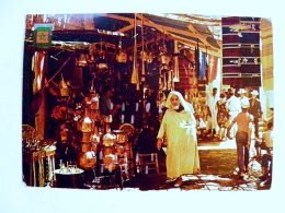 Post Card From Morocco Maroc 1973 Market Atm Cancel Machine Loterie Nattionale - Morocco (1956-...)