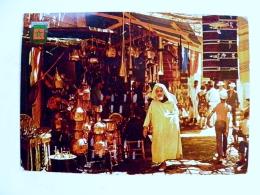 Post Card From Morocco Maroc 1973 Market Atm Cancel Machine Loterie Nattionale - Maroc (1956-...)