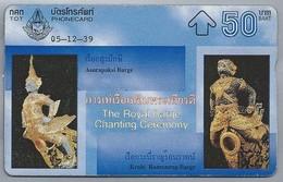TH.- THAILAND. Phonecard. Asurapaksi Barge. Krabi Ranronrap Barge.  05-12-39. The Royal Barge Chanting Ceremony. 2 Scans - Thaïlande
