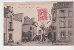 26352 Malestroit Rue Sainte Anne -sans Ed Encre Rouge - Hotel De France -la Poste - Malestroit