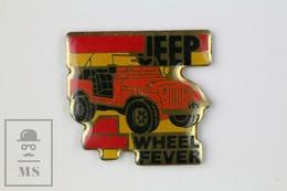 Jeep 4 Wheel Fever Vintage Advertising Pin Badge - Pin