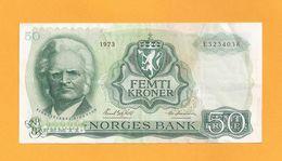NORVEGE - 50 Kroner (1973) - Illustration : Portrait De BJØRNSTJERNE BJØRNSON. - Norvège