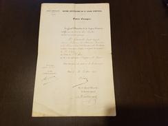 Diplome 1875 Ordre De Sainte Anne Chancelier Legion D'honneur Empereur Russie Ordres Etrangers - Documents Historiques