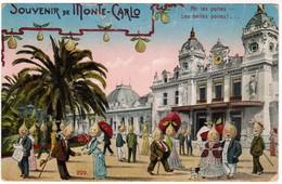SOUVENIR DE MONTE-CARLO  Poires Humanisés CARICATURE HUMOUR ILLUSTRATEUR MONACO  (pk41160) - Monte-Carlo