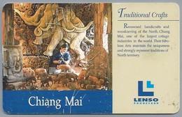 TH.- THAILAND. Phonecard. LENSO. CHIANG MAI. Traditional Crafts. 300 BATH. 2 Scans - Thailand