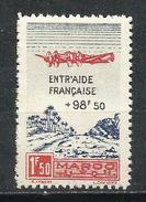 Protectorado Francés En Marruecos. 1944. A Beneficio De La Mútua Francesa - Aéreo