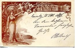 ITALIE ENTIER POSTAL 1896 Italy Postal Stationery Postcard Cartolina Postale Italiana Travelled - VENEZIA To MUNCHEN - 1878-00 Humbert I