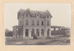 LE BLANC MESNIL : Halte De B. M. En Construction, Cour. Quadruplement Voies Plaine St Denis Le Bourget. Photo Originale - Trains