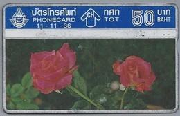 TH.- THAILAND. Phonecard. - 11-11-36 -. Rozen. 50 BATH. 2 Scans - Thaïlande