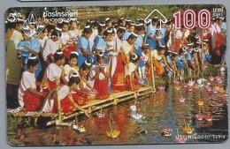 TH.- THAILAND. Phonecard. - Het Brengen Van Offers. 100 BATH. 2 Scans - Thaïlande