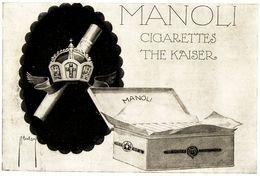 Original-Werbung/ Anzeige 1913 - MANOLI CIGARETTEN - Ca. 210 X 130 Mm - Werbung