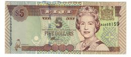 Fiji 5 Dollars 2002 UNC - Fiji