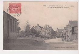 26360 Concoret Rue Principale Arrivee Paimpont Saint Malon -ed Mignot - Autres Communes