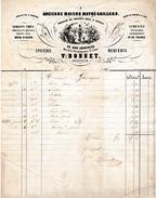 """1856 - SENS (89) - """"AU BON JARDINIER"""" - Semences, Épicerie, Mercerie - Maison Vor. BONNET - Historical Documents"""