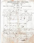 1844 - TONNEINS (47) - Fabrique De Ficelles & Cordages - Joseph Mouchés, Fils Aîné - - Documents Historiques