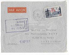 LA REUNION - 1950 - YT 301 SEUL Sur LETTRE Par AVION CACHET CONVOYEUR   => PARIS - Reunion Island (1852-1975)