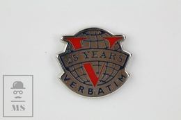 25 Years Anniversary Verbatim Discs Advertising Pin Badge - Marcas Registradas