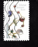 FRANCE Adhésif Oblit 1410 Fleurs Et Métier D'art Cristal Pierres Et Or - Adhesive Stamps