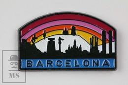 Barcelona City - Tourist Advertising Pin Badge - Ciudades