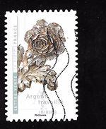 FRANCE Adhésif Oblit 1412 Fleurs Et Métier D'art Argent Travaillé - Adhesive Stamps