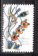FRANCE Adhésif Oblit 1413 Fleurs Et Métier D'art Faience Et Glacure Peinte - Adhesive Stamps