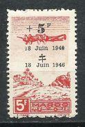 Protectorado Francés En Marruecos. 1946. 6º Aniversario De La Llamada Del General De Gaulle - Aéreo