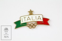 Italy Olympic Games Vintage  Advertising Pin Badge - Juegos Olímpicos