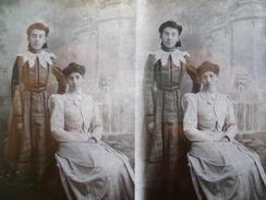 SPA  Une Comtesse Locale Et Sa Nièce Photo Stéréoscopique Verre (1890/95) - Glass Slides