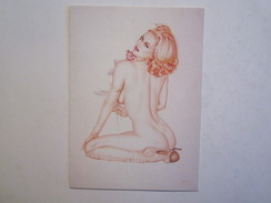 Trading Cards Olivia  Femme Nue Seins Nues érotisme érotique Sexy Dessin Illustrateur - Pinup