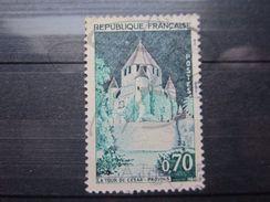 VEND TIMBRE DE FRANCE N° 1392A , TOITS GRIS SEPIA !!! - Variétés: 1960-69 Oblitérés